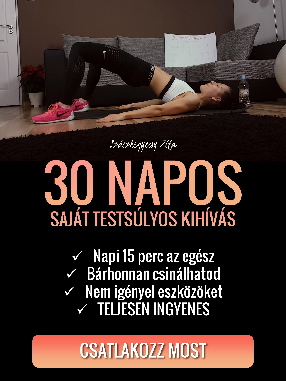 Csatlakozz MOST a 30 Napos Saját Testsúlyos Kihíváshoz!